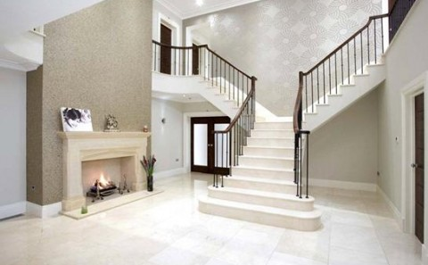 Custom marble stairs