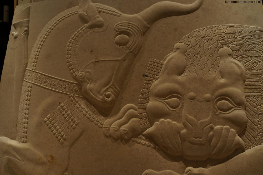 Reproduction of relief carving from persepolis