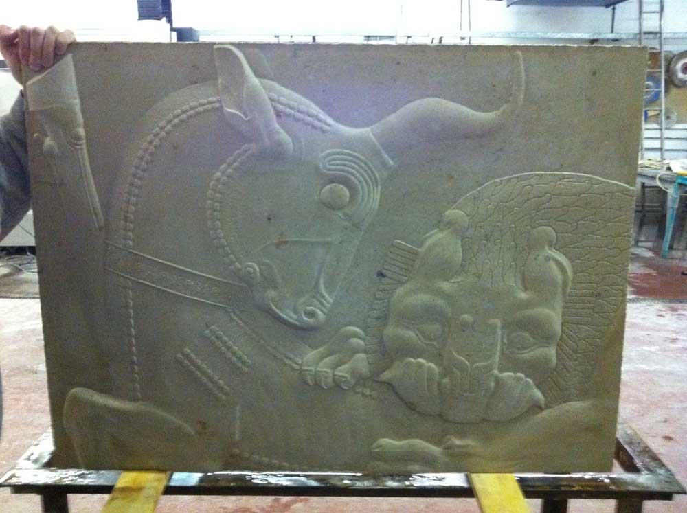 persepolis carving reproduction on CNC