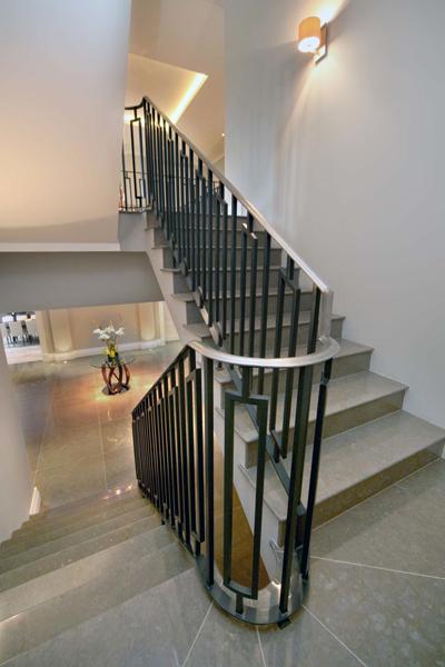 Limestone stairs