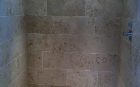 Jura limestone shower tray