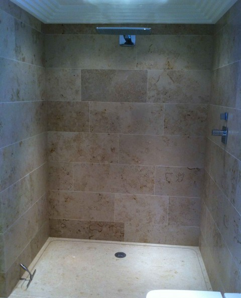 Jura limestone shower tray