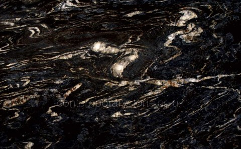 Titanium black granite close-up