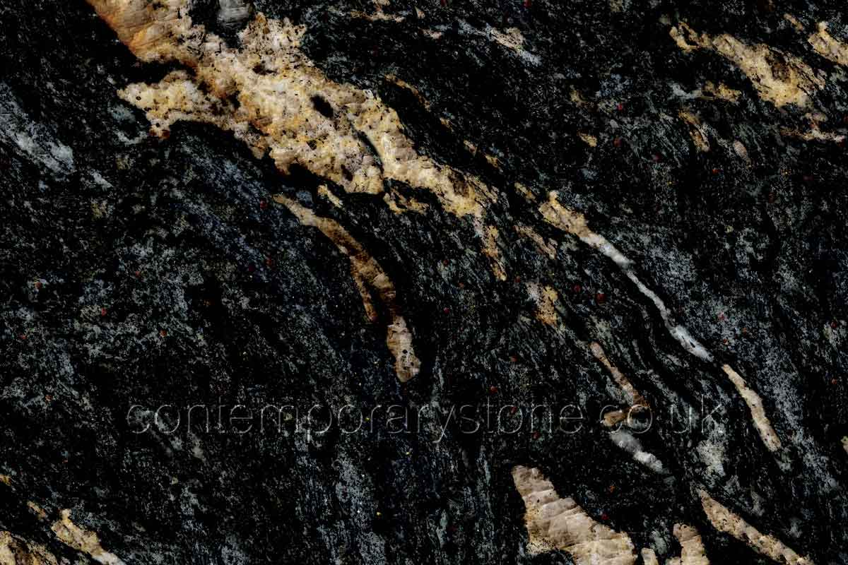 cosmic black granite close-up