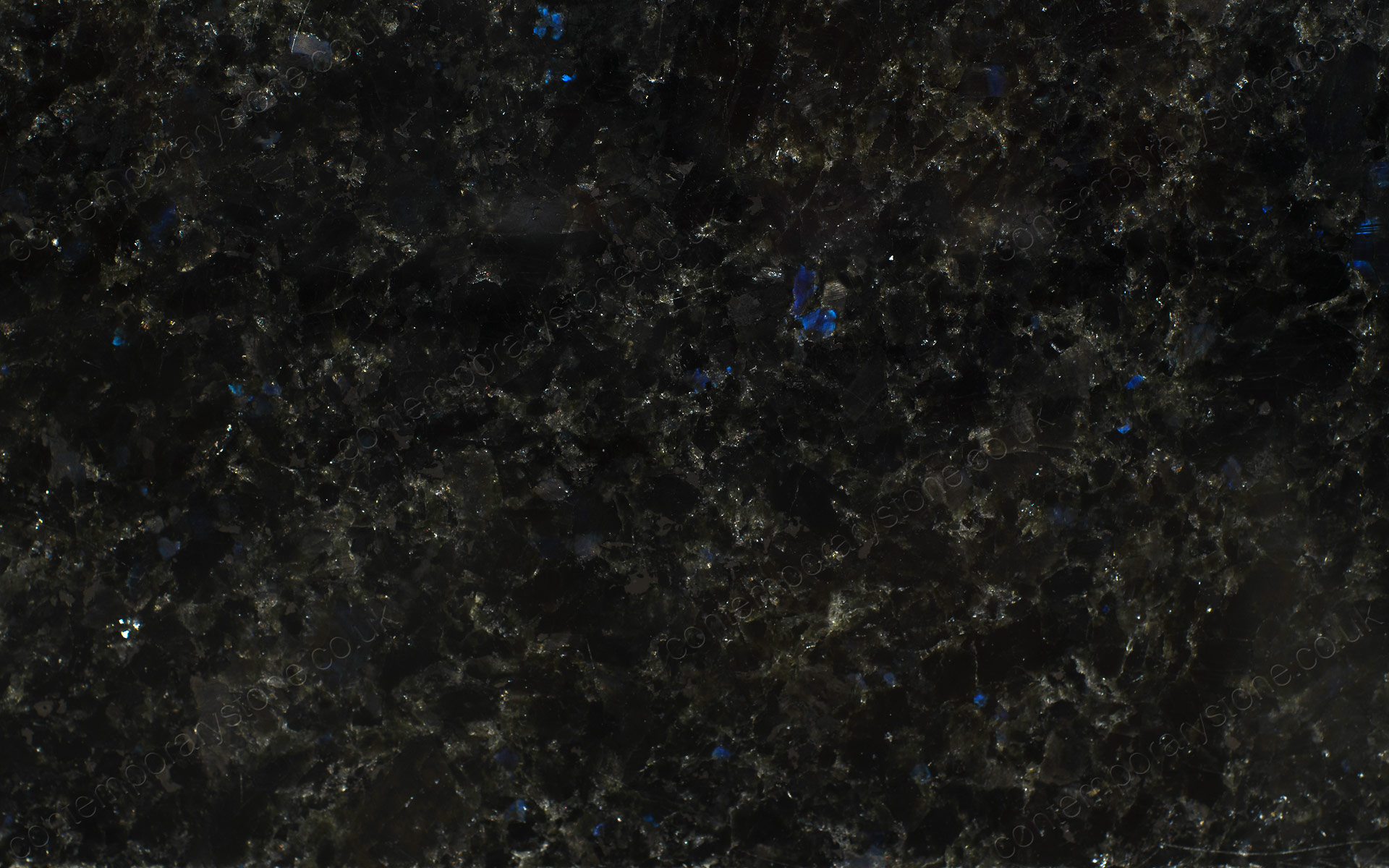 Angola blue granite close-up
