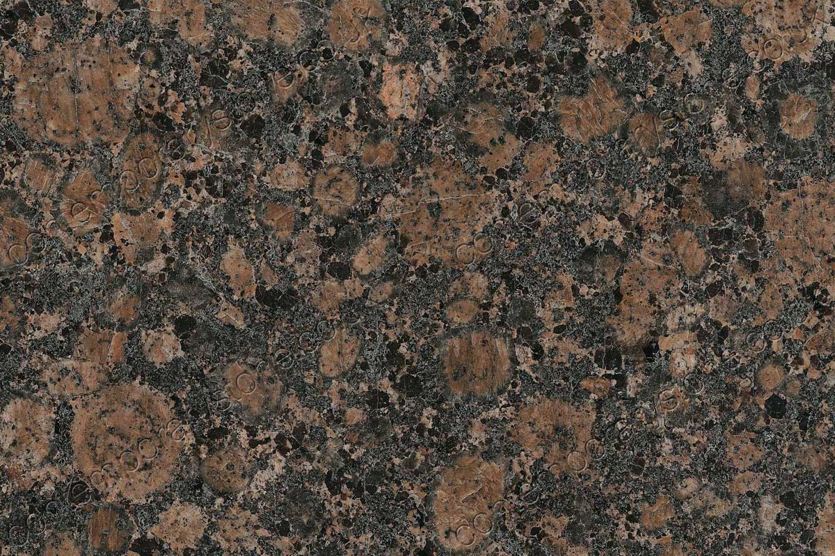 baltic brown granite close-up