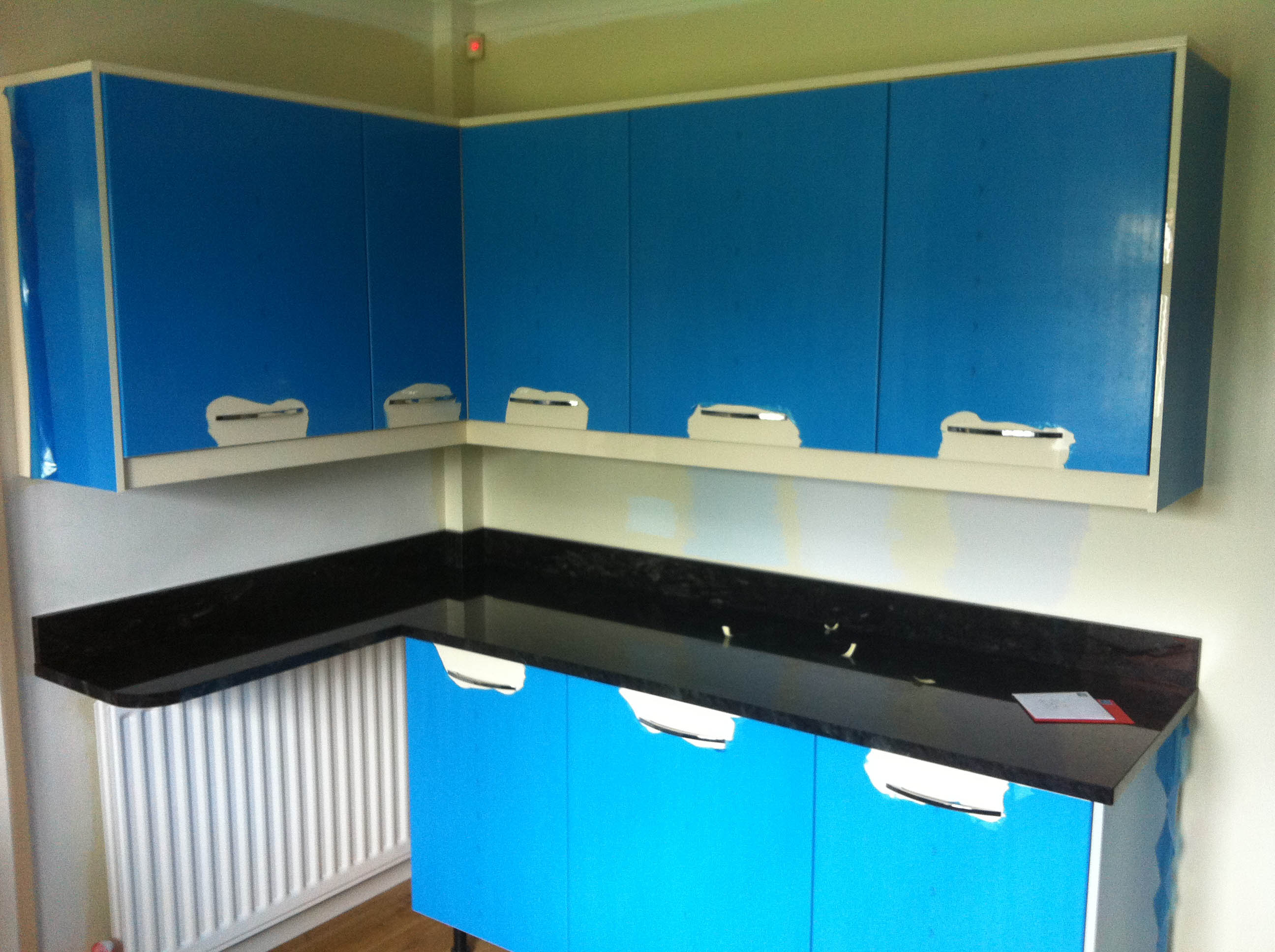 Flash blue granite worktop leamington spa