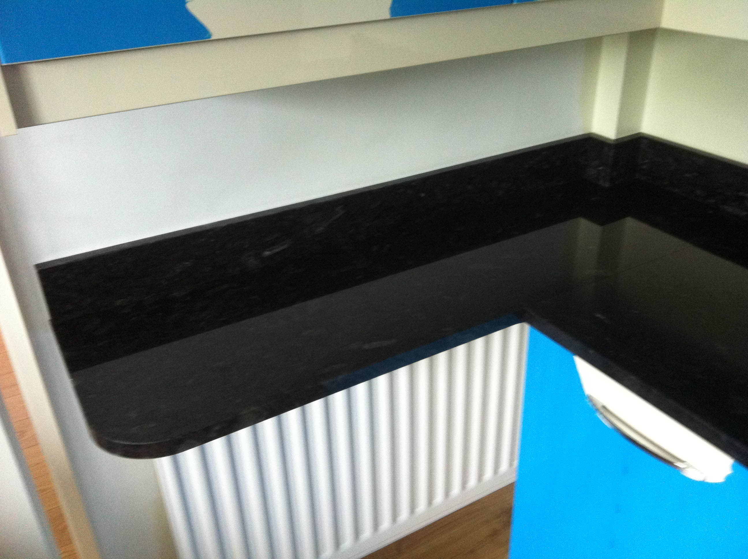flash blue granite worktop leamington spa curved cuts