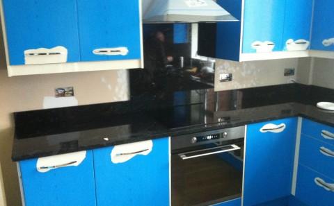 flash blue granite worktop leamington spa hob splash-back