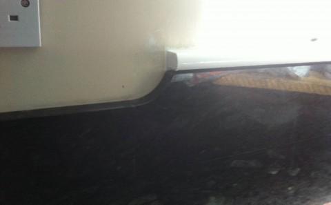 flash blue granite worktop leamington spa upstand detail