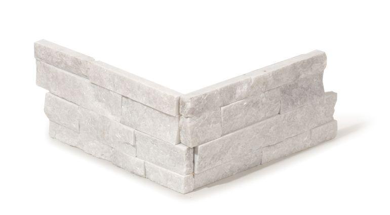 white quartz stone skin corner
