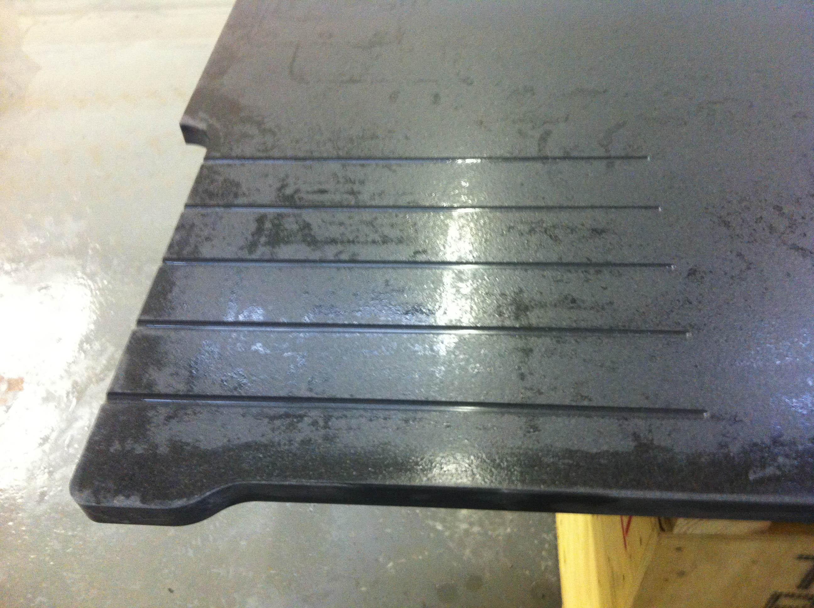 Indian jet black granite drainer detail