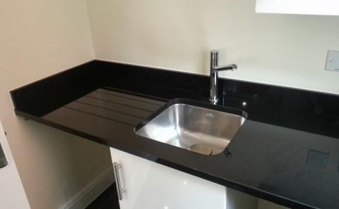 Jet Black granite worktop utility stratford