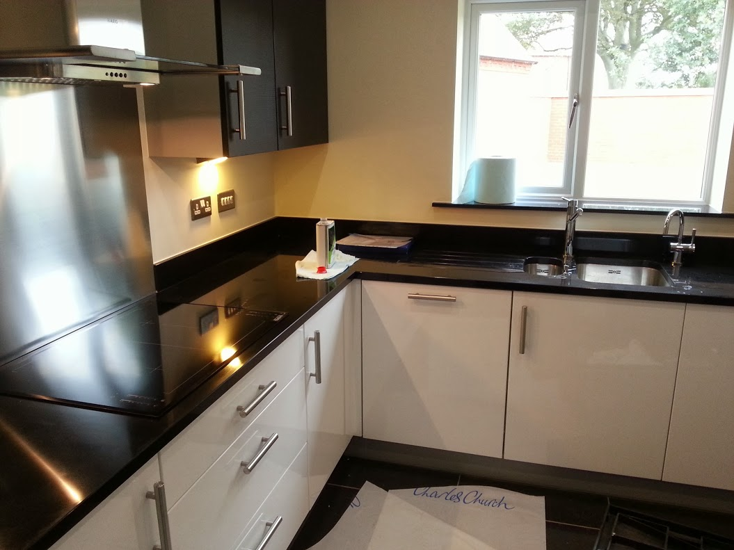 Jet Black granite worktop stratford upon avon