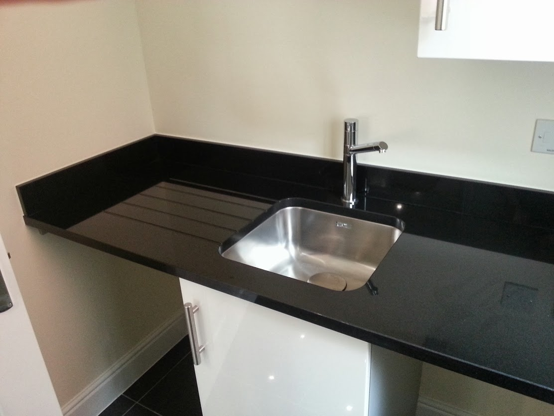 Jet Black granite worktop utility stratford