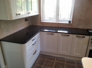 angola black granite worktop curved cutting