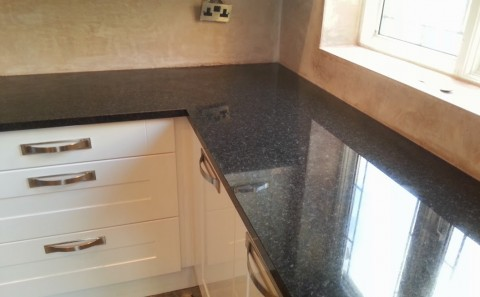 angola black granite worktop joint