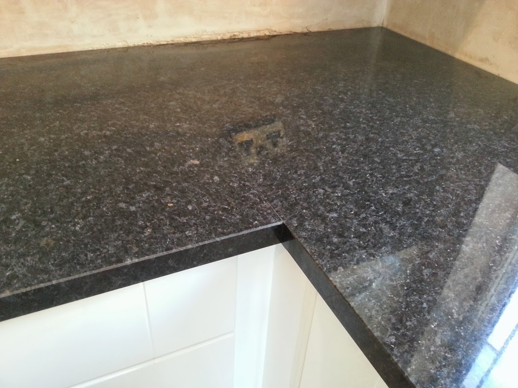 Angola Black Granite Kitchen