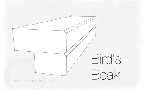 bird's beak edge profile