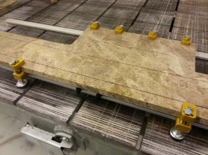 cappucino marble reinforcement with rods