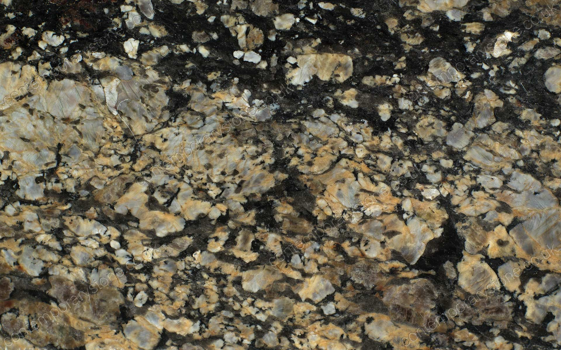 Coral gold granite close-up