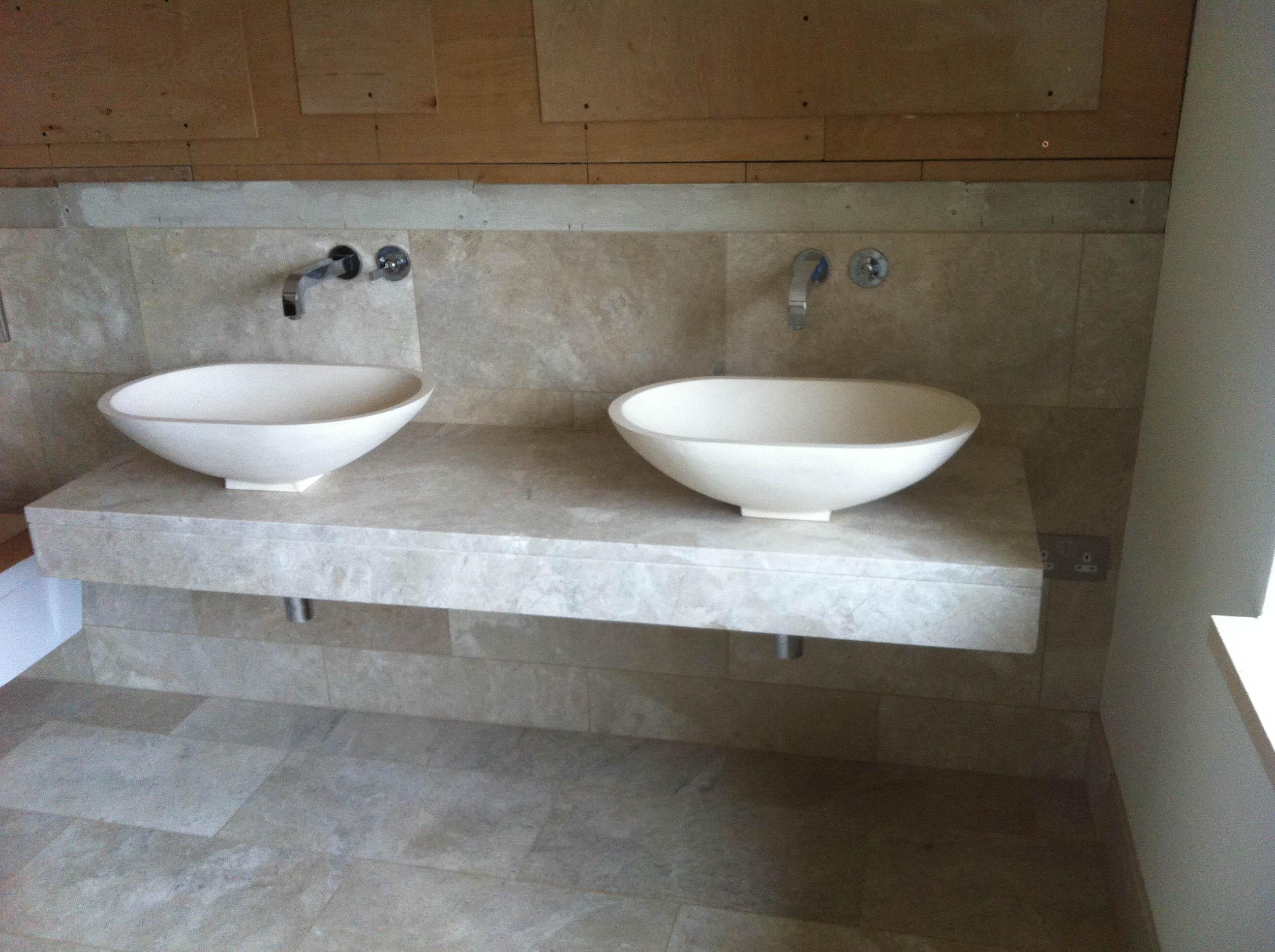 double marble vanity stroud
