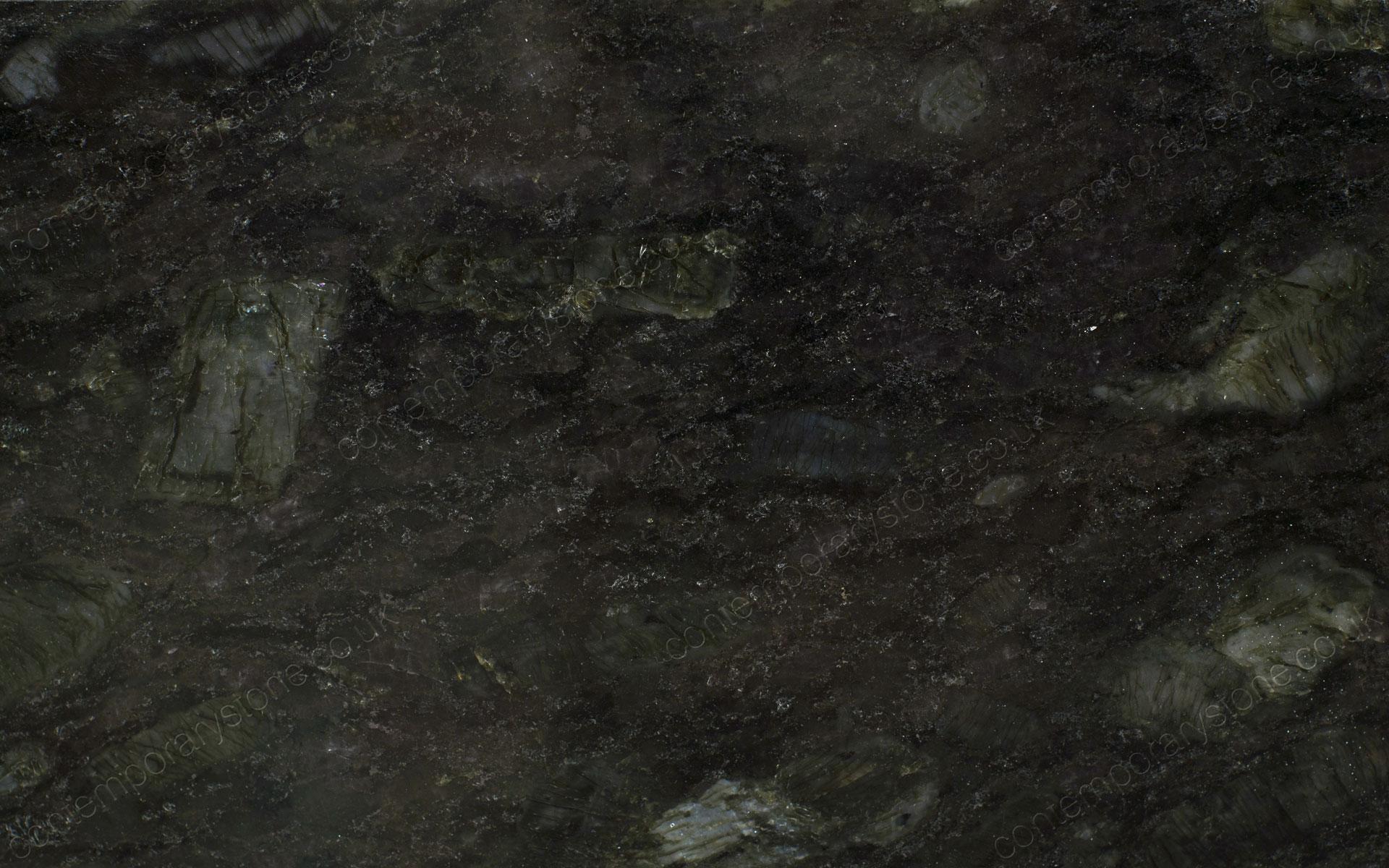 Flash blue granite close-up