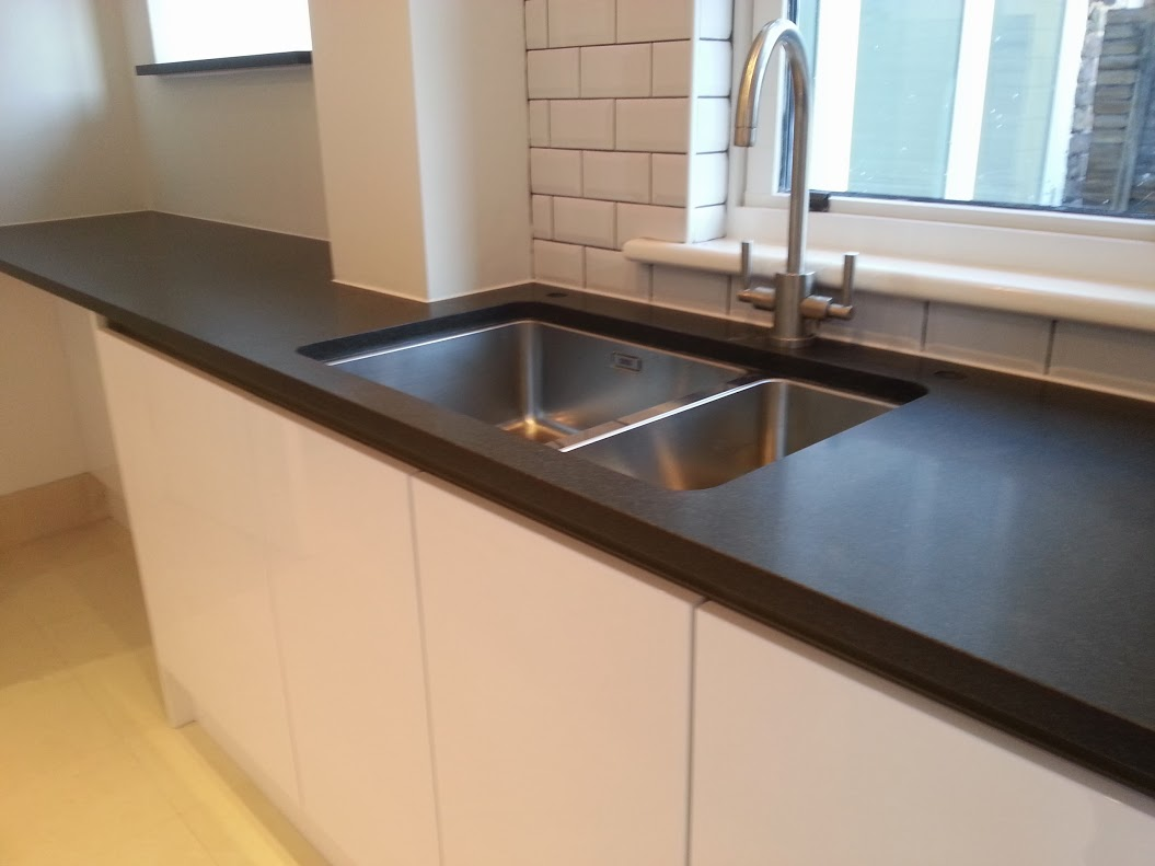 Granite Sink India : Indian jet black granite honed worktop, Chelsea - Contemporary Stone ...