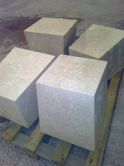 travertine fabricated blocks
