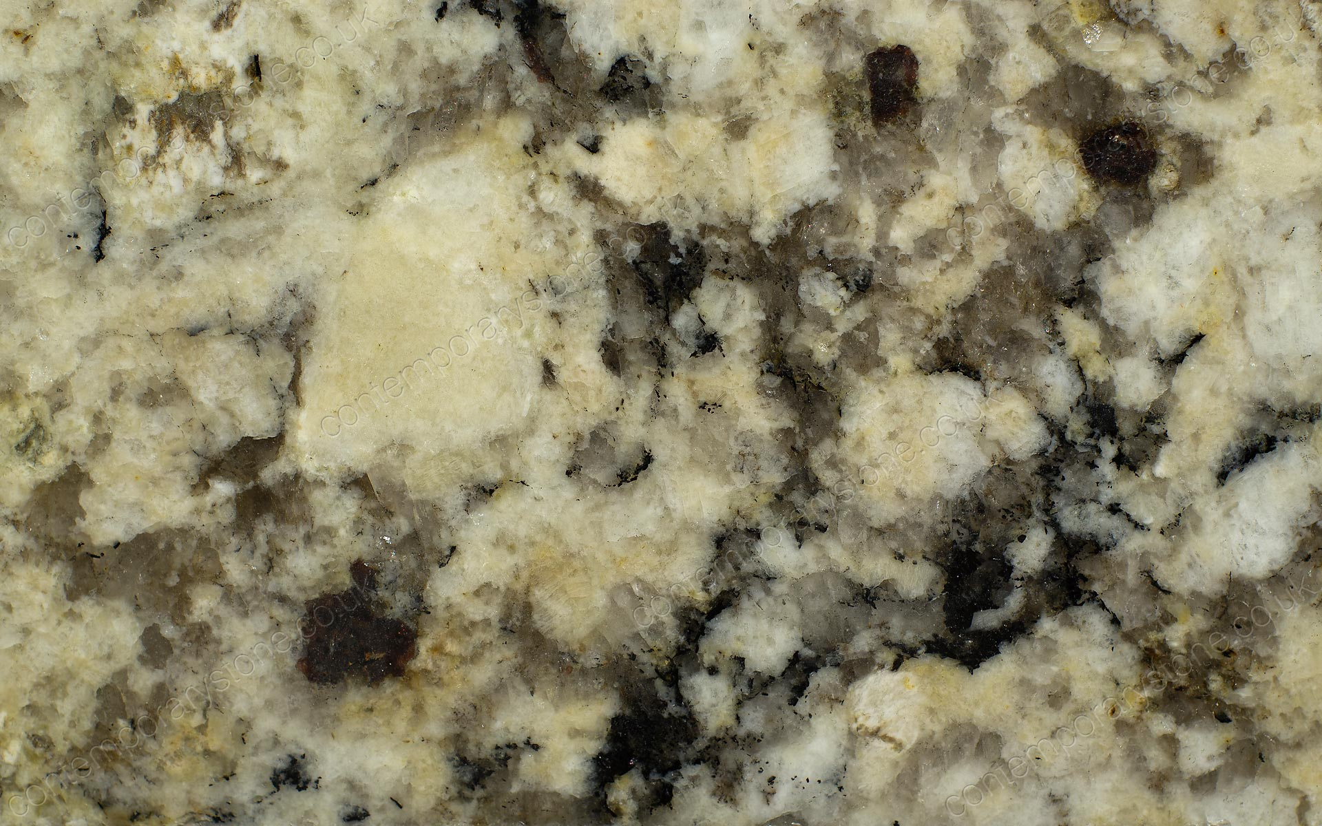 autumn cream granite close-up