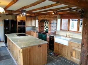 kashmir gold granite worktop island warwickshire