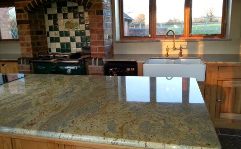 kashmir gold granite worktop warwickshire 2