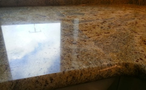 kashmir gold granite joint close