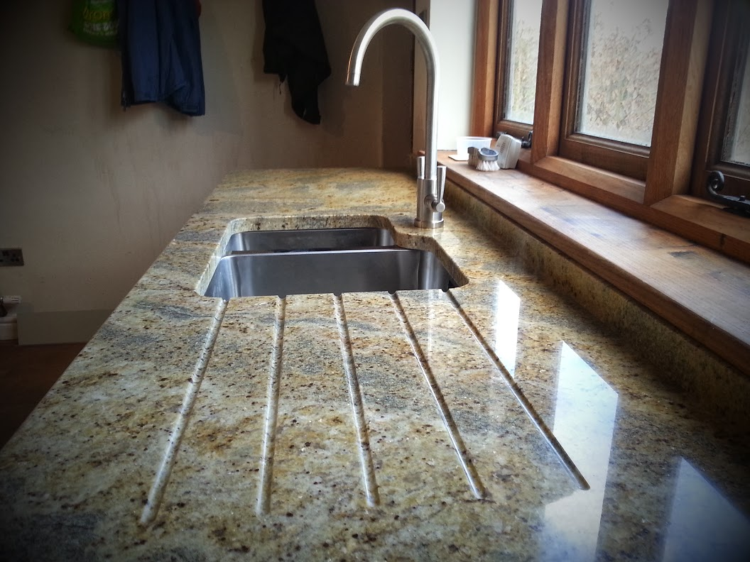 kashmir gold granite sink