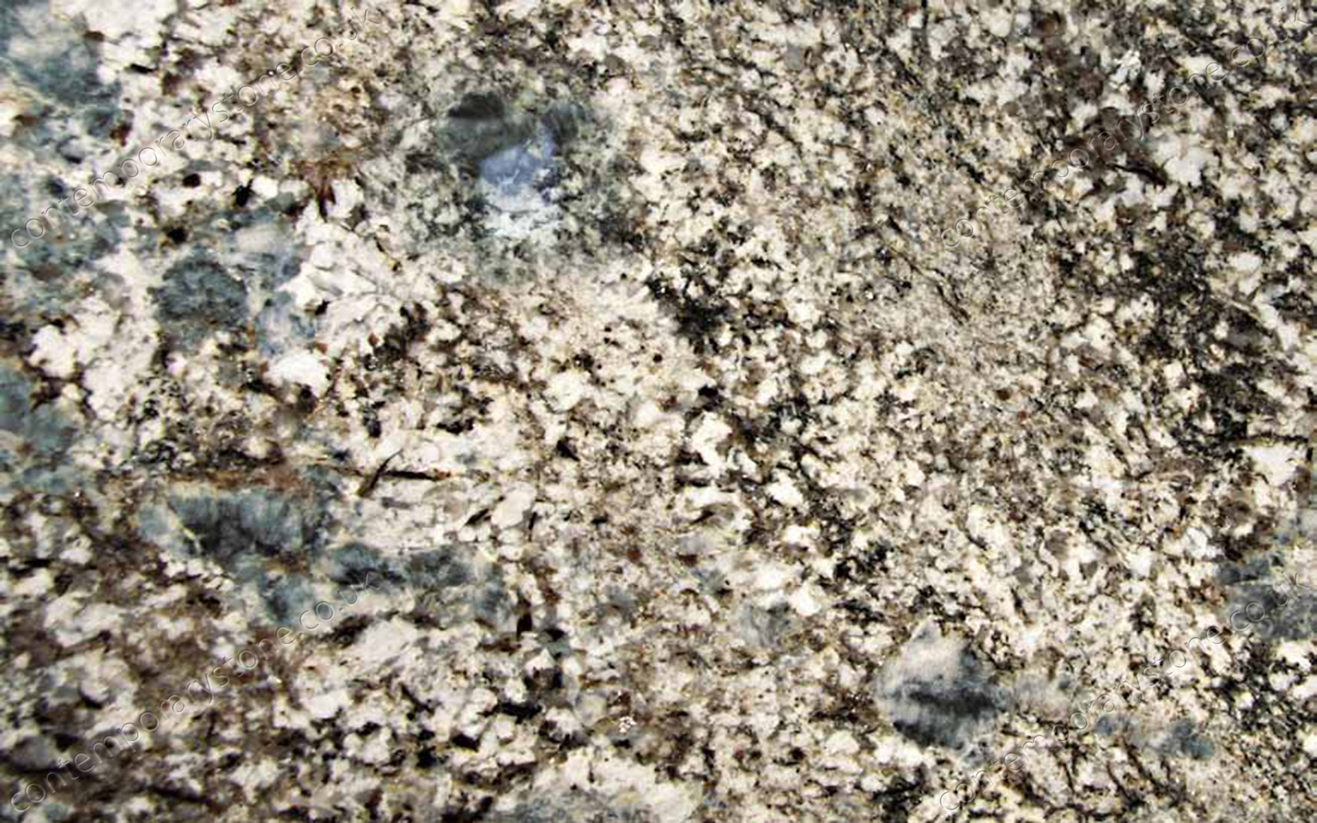 Blue Flower granite close-up