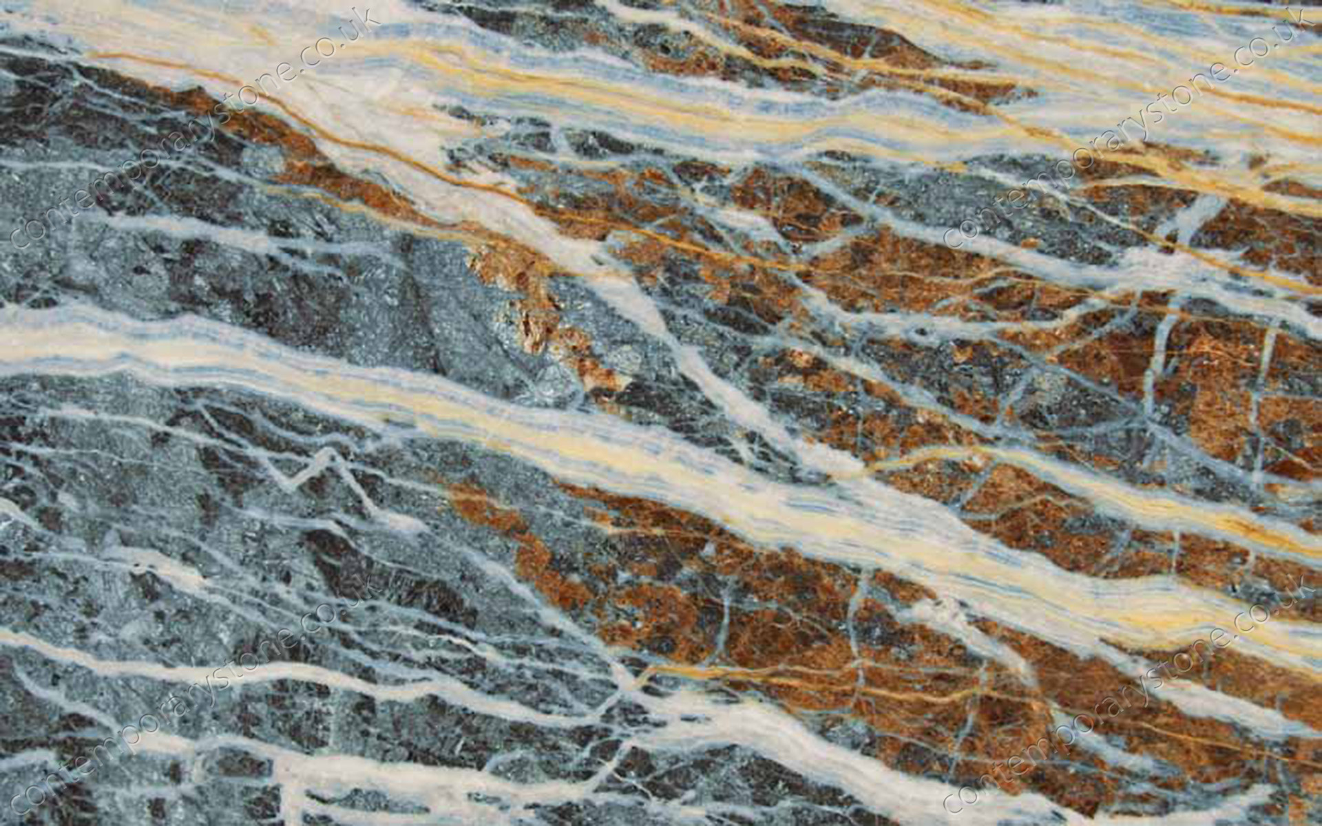 Blue Jeans marble close-up