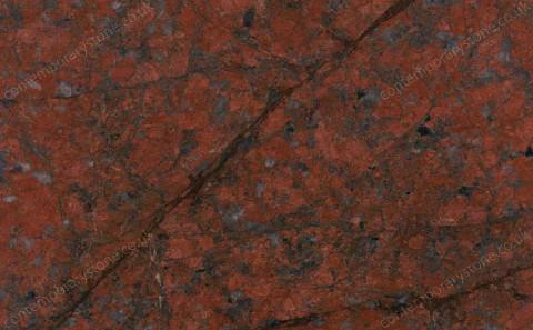 Dragon Red granite close-up