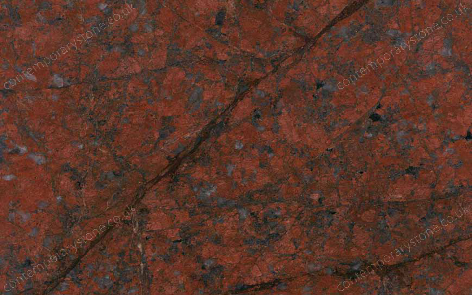 Dragon Red granite close-up