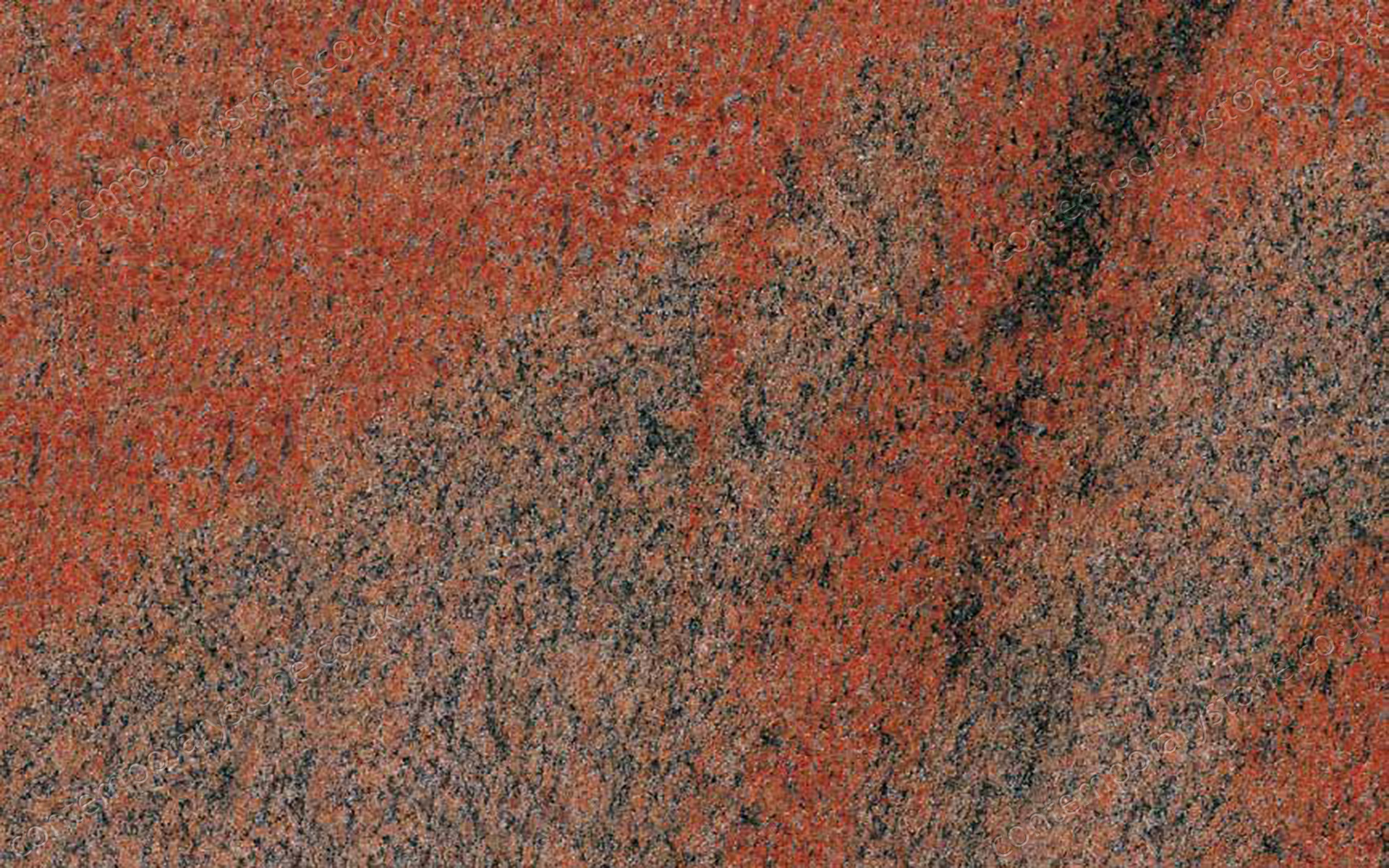 Multicolor Red granite close-up