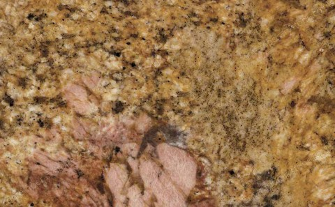 New Imperial Gold granite close-up