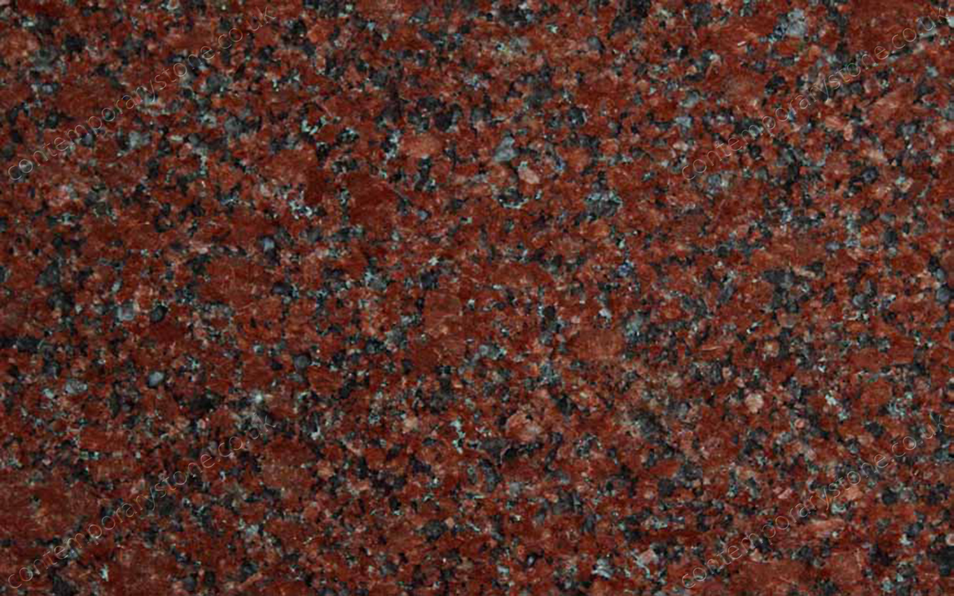 New Imperial Red granite close-up