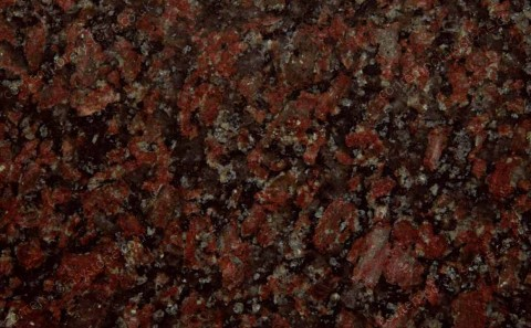 Rosso Sierra Chica granite close-up