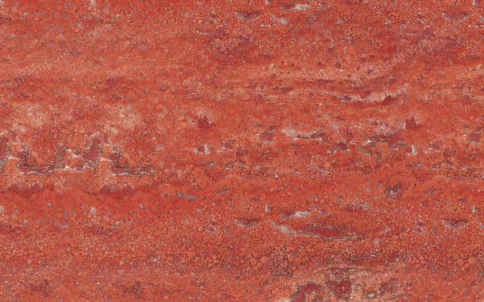 Travertino Rosso travertine close-up