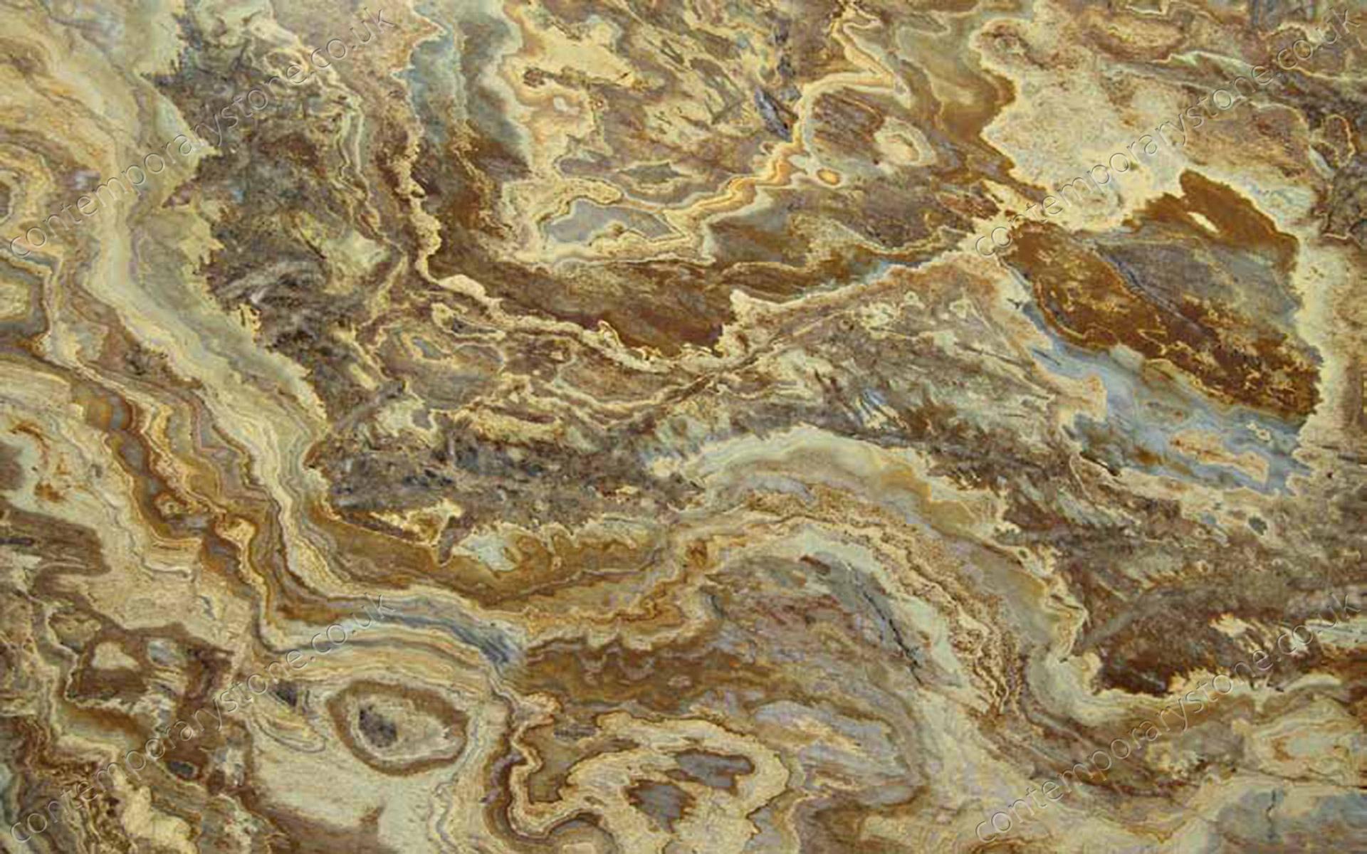 Yellow Bamboo granite close-up