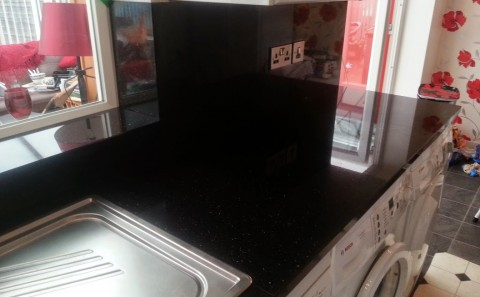 splash-backs in star galaxy granite