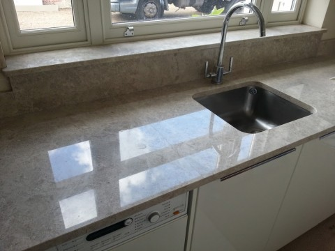 Utility worktops in marble, sills and upstands