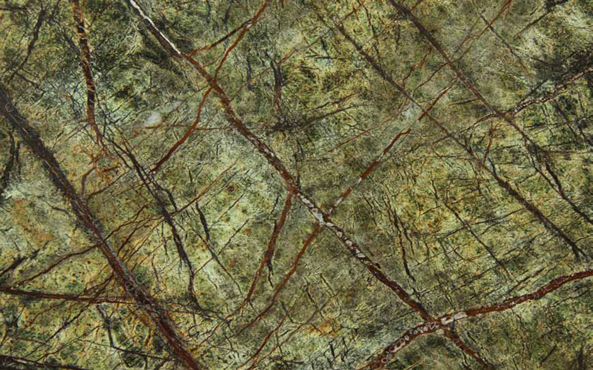 Rainforest Green marble close-up