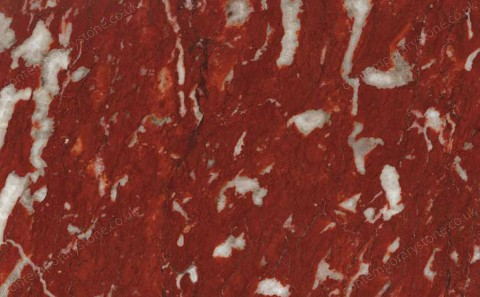 Rosso Francia marble close-up