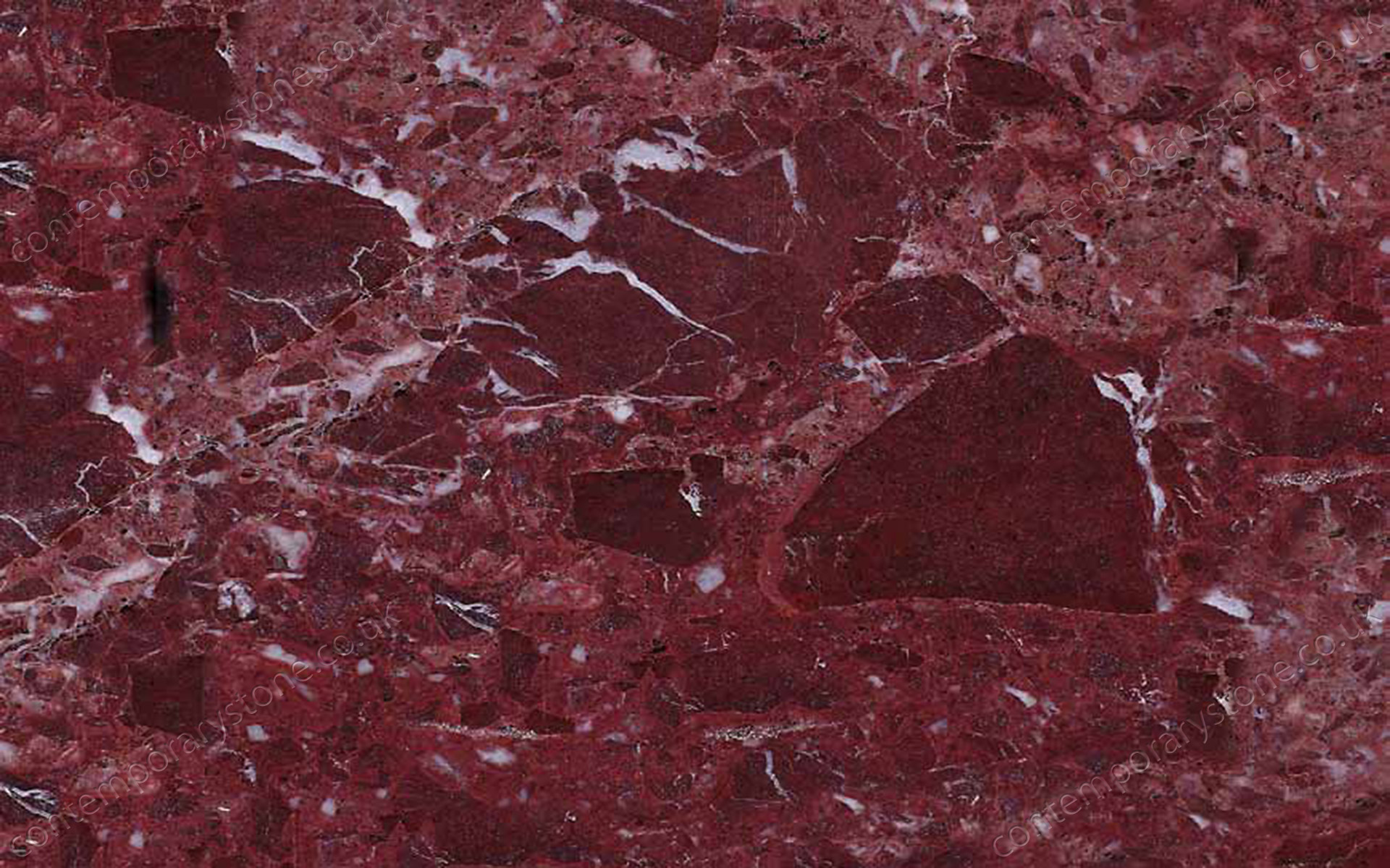 Rosso Lepanto marble close-up