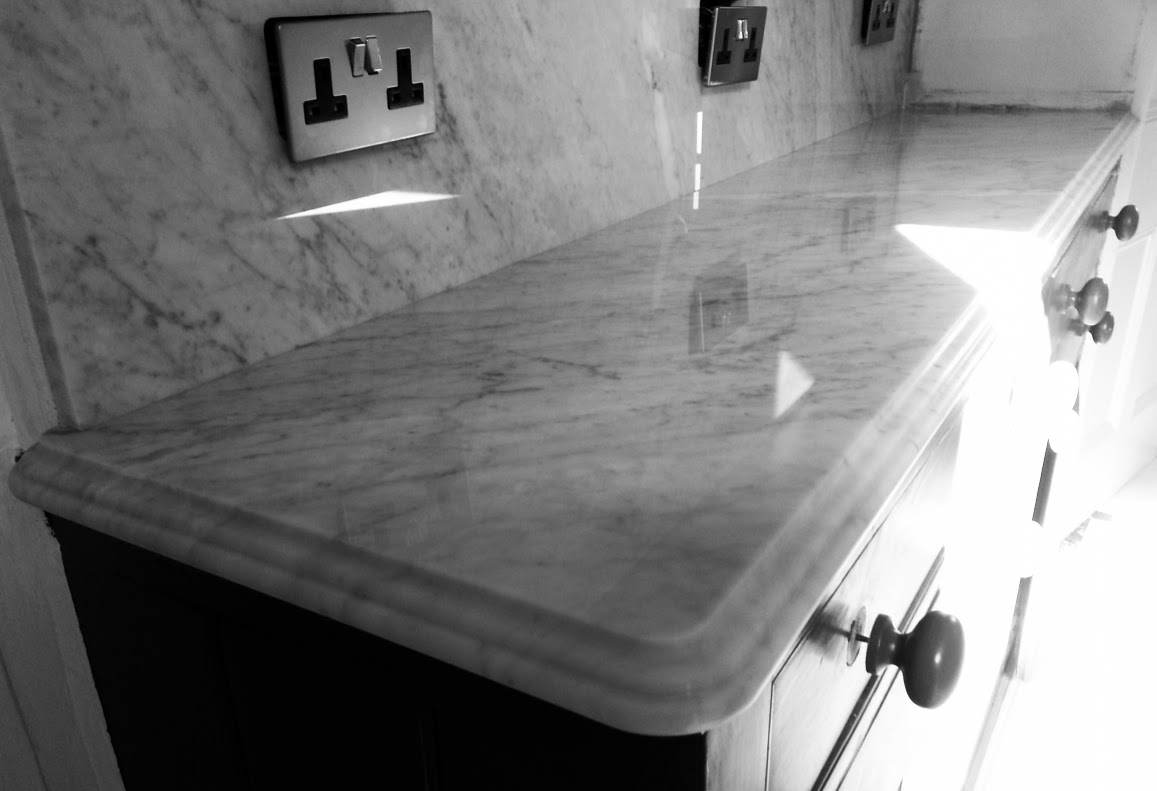 carrara marble kitchen worktop